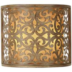 "Carabel Brushed Champagne 12 3/4"" Wide Wall Sconce"