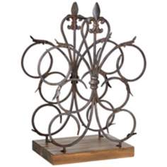 Fleur-de-Lis 6-Bottle Table Wine Rack