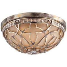 "Possini Tradition 16 1/2"" Wide Silver Leaf Ceiling Light"