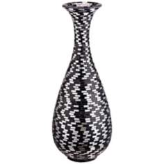 Black and White Mosaic Bubble Vase