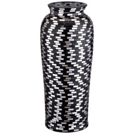 Black and White Mosaic Ceramic Vase