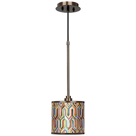 Synthesis Giclee Glow Bronze Mini Pendant Light