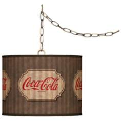 "Coca-Cola® Vintage Brown 13 1/2"" Brass Swag Pendant"