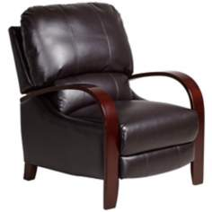 Naples Collection Coffee Bonded Leather 3-Way Recliner Chair