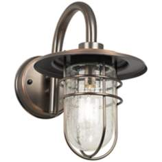 "Stratus Collection 12 3/4""H Bronze Outdoor Wall Light"