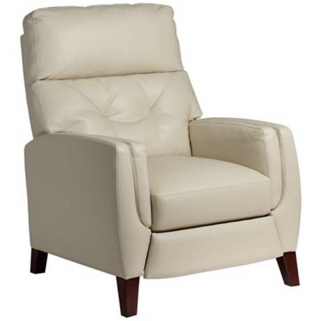 Bayview Ivory Bonded Leather 3-Way Recliner Chair