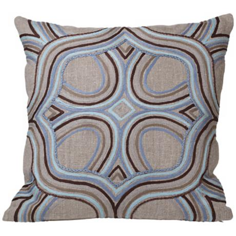"Global Bazaar Artista Blue 18"" Square Throw Pillow"