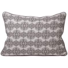 Global Bazaar Dunes Gray Throw Pillow