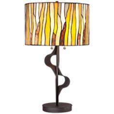 Ribbon Art Glass Table Lamp