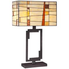 Robert Louis Tiffany Industrial Art Glass Table Lamp