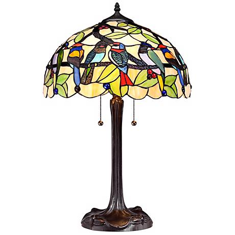 Tropical Birds Robert Louis Tiffany Table Lamp
