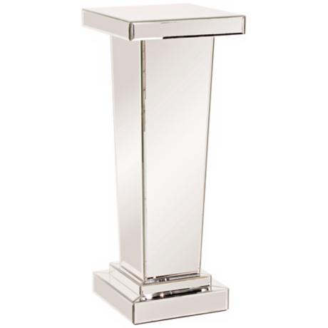 Tall Tapered Mirrored Pedestal Accent Table - #W7862  www.lampsplus ...