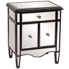 Howard Elliott Black Lacquer Mirrored Chest