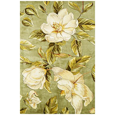 Catalina Collection Sage Magnolia Area Rug