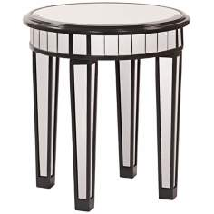 Howard Elliott Beveled Mirror Side Table