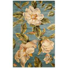 Catalina Collection Light Blue Magnolia Area Rug