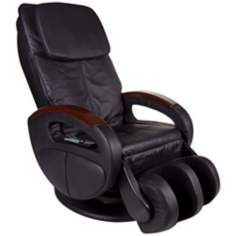 Black Leather Reclining Massage Chair