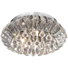 "Deco Crystal Collection 13"" Wide Flushmount Ceiling Light"