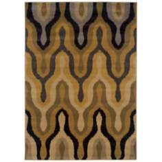 Oriental Weavers Stella 3320D Black Gold Area Rug