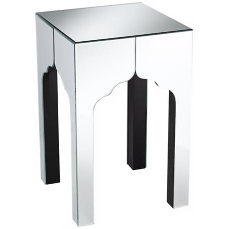 Eclectic Mirrored Accent Table