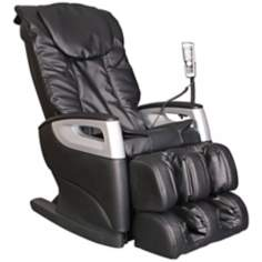 Black Faux Leather Shiatsu Massage Chair