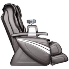Black Faux Leather Heated Shiatsu Massage Chair