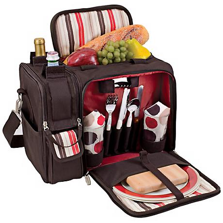 Picnic Time Malibu Moka Insulated Picnic Basket