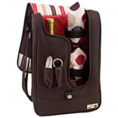 Picnic Time Barossa Moka Insulated Wine Bottle Tote