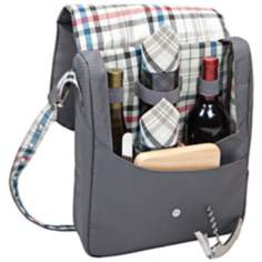 Picnic Time Britannia Wine Tote and Cooler