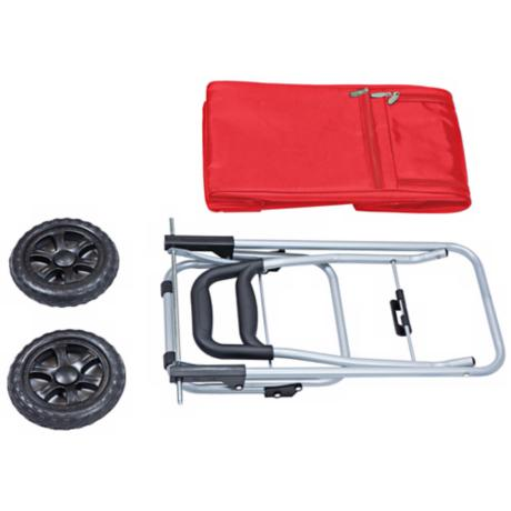 Picnic Time Red Insulated Cooler and Folding Cart