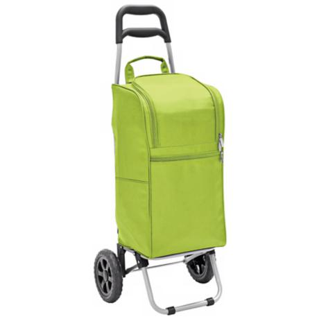 Picnic Time Lime Green Insulated Cooler and Folding Cart