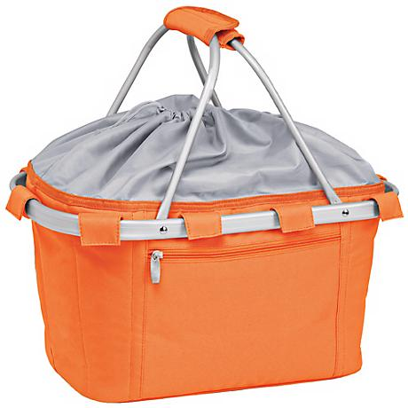 Picnic Time Metro Collapsible Orange Basket