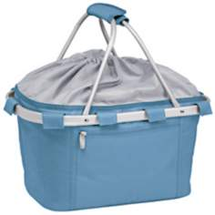Picnic Time Metro Collapsible Vista Blue Basket