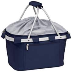 Picnic Time Metro Collapsible Navy Basket
