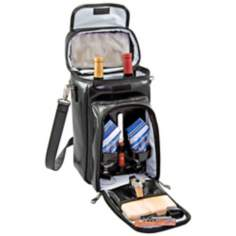 Picnic Time Serenata Deluxe Insulated Black Wine Tote