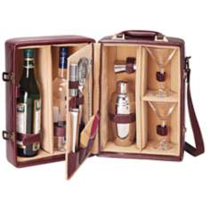 Picnic Time Manhattan Burgundy Cocktail Case