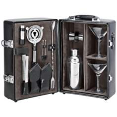 Picnic Time Manhattan Black Cocktail Case