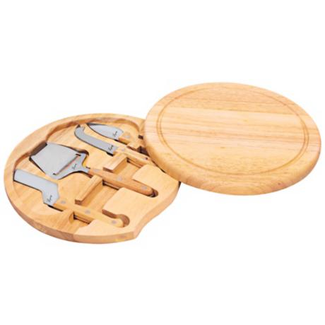 Picnic Time Circo Wood Cheese Board with Tools