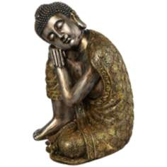 Brushed Gold Sleeping Buddha Statue