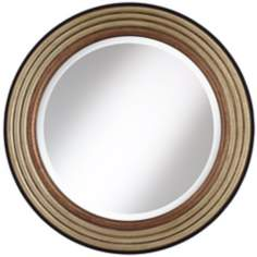 "Cercles Metallic Finish 29 1/2"" High Round Wall Mirror"