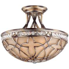 "Possini Tradition 15 3/4"" Wide Silver Leaf Ceiling Light"