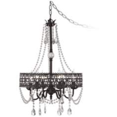 Drake Collection Beaded 6-Light Dark Rust Chandelier