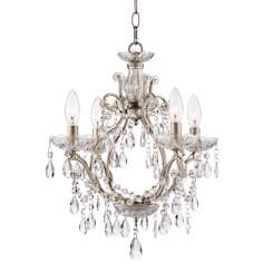 "Eyja 16 1/2"" Wide Silver Crystal Chandelier"