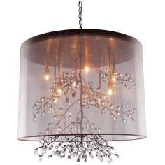 "Artcraft Sherwood 6-Light 19 1/2"" Wide Bronze Pendant Light"