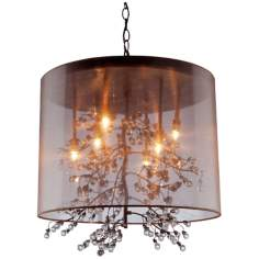 "Artcraft Sherwood 8-Light 24 1/2"" Wide Bronze Pendant Light"