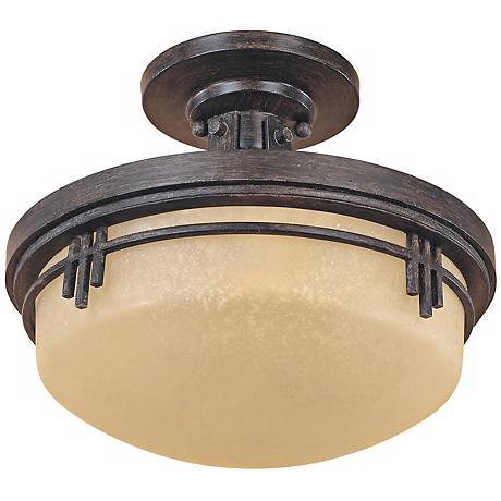 "Mission Ridge 13"" Wide Semi Flush Ceiling Light"