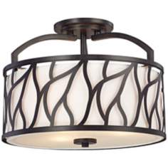 "Modesto 14 1/2"" Wide Semi Flush Ceiling Light"