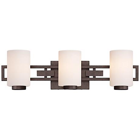 "Del Ray 3-Light 24"" Wide Flemish Bronze Bath Light"