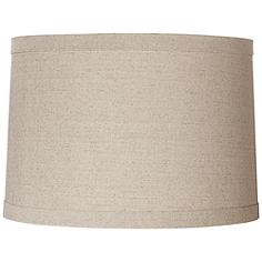 Springcrest™ Natural Linen Drum Shade 15x16x11 (Spider)