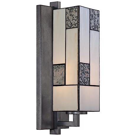 "Bradley 14 3/4"" Wide Charcoal Art Glass Wall Sconce"